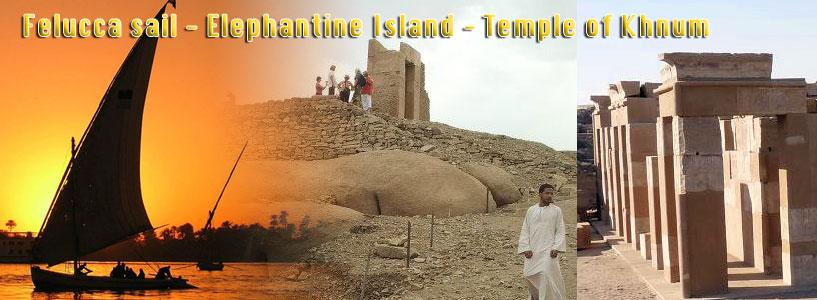 Felucca sail - Elephantine Island - Temple of Khnum
